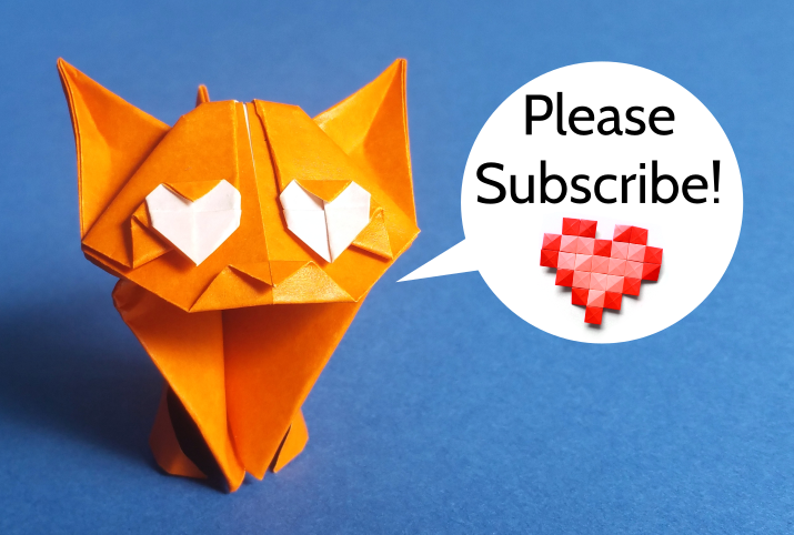 Please subscribe to my YouTube channel Origami Plus!