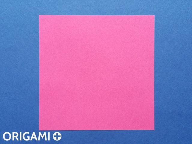 兩步驟心型折紙 - 步 1