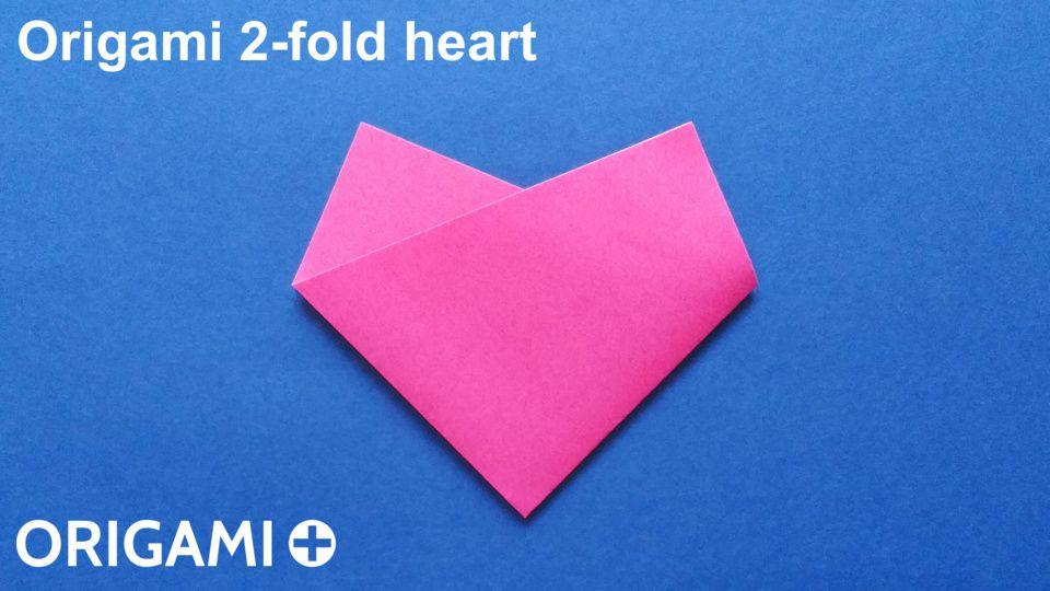 Magnificent Origami 2 Fold Heart Wiring 101 Photwellnesstrialsorg