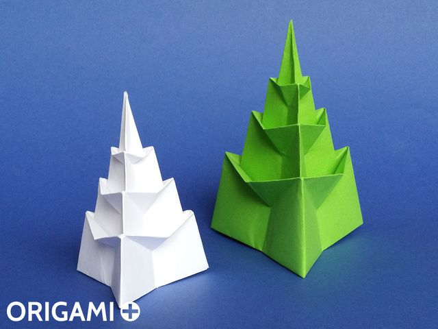 Paper Christmas Tree 3D - How to make Origami Christmas Tree Easy ... | 480x640