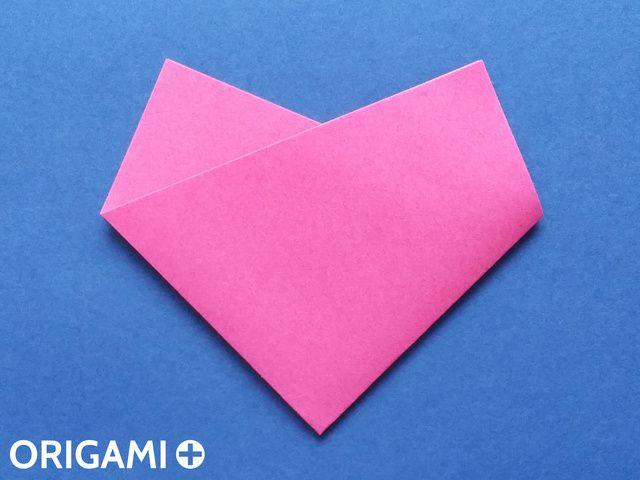Coração em 4 dobras - passo 4