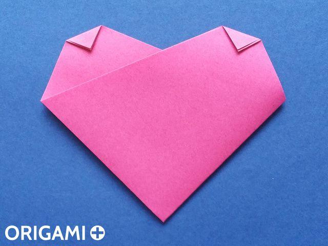 Coração em 4 dobras - passo 5