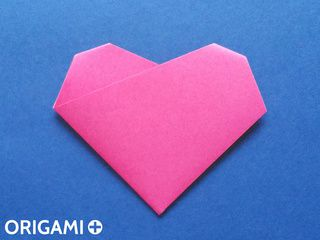 Origami 4-fold heart