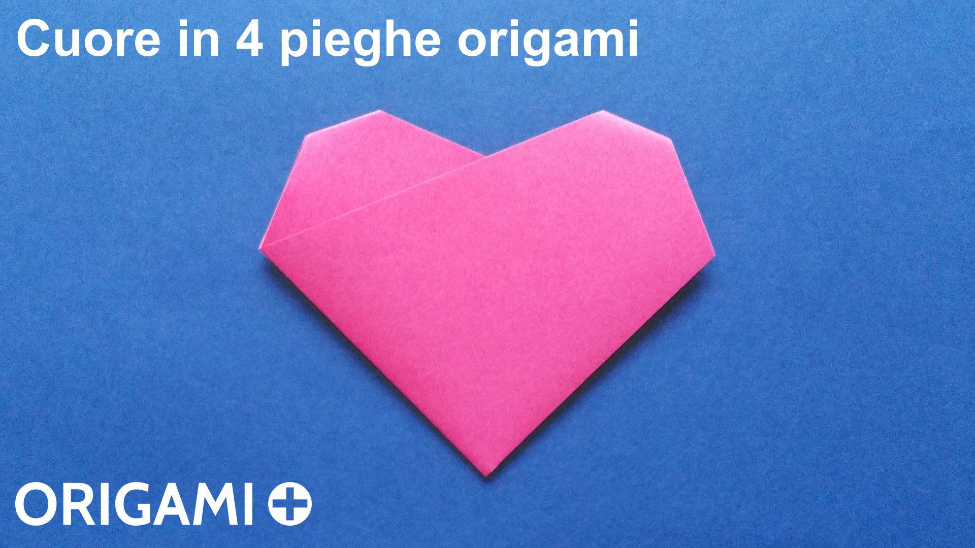 Cuore in 4 pieghe origami