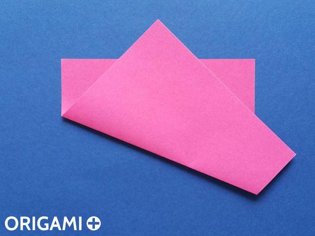 六步驟心型折紙 - 步 2