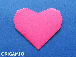 Coração em 6 dobras de origami