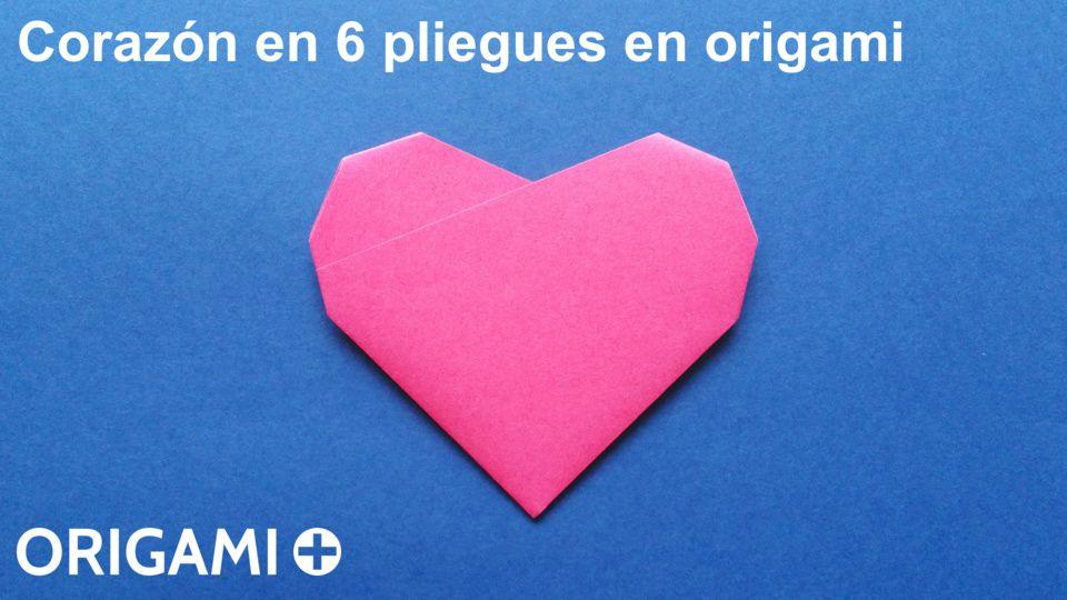corazón en 6 pliegues