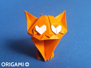 Chat Adorable en origami