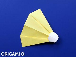 Origami Badminton Shuttlecock