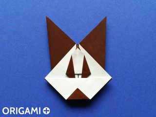 Origami Big Bad Wolf Head