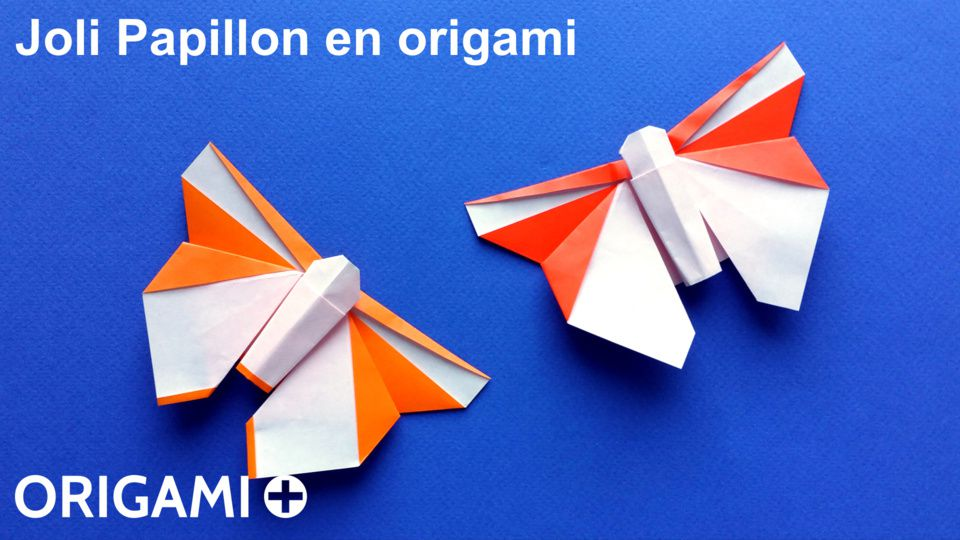 joli papillon en origami. Black Bedroom Furniture Sets. Home Design Ideas