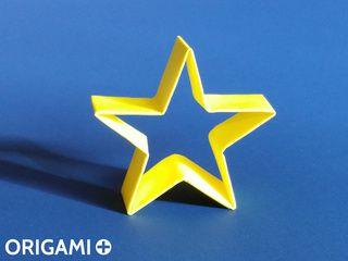 Etoile de Noël en origami