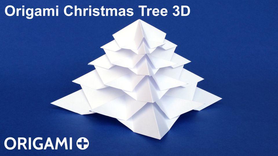 Origami Christmas.Origami Christmas Tree 3d