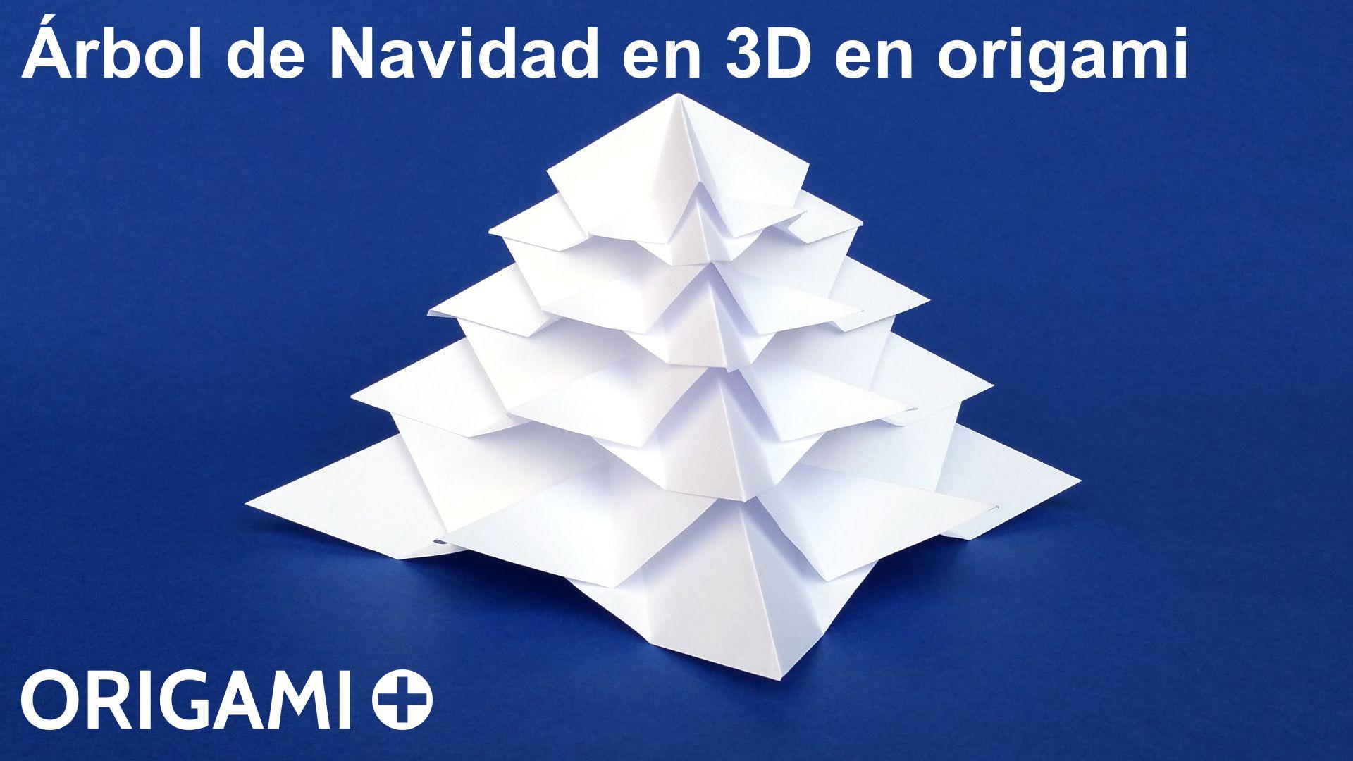 Rbol de navidad en 3d en origami - Arbol de navidad origami ...