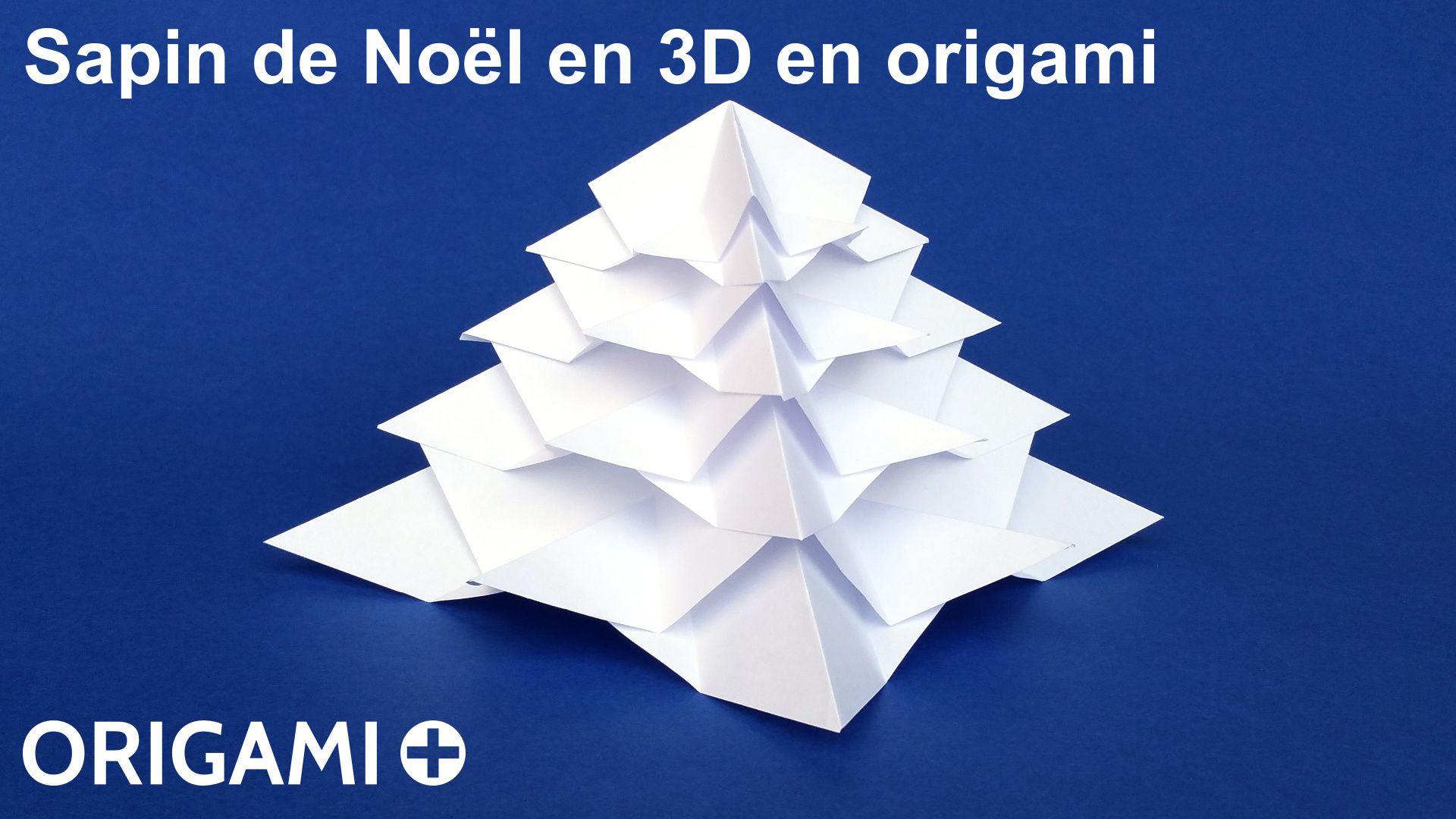 Sapin de no l en 3d en origami - Origami sapin de noel facile ...