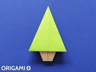 Árvore de Natal de origami