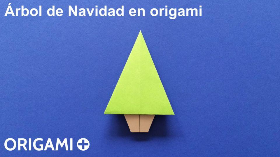 Rbol de navidad en origami - Arbol de navidad de origami ...