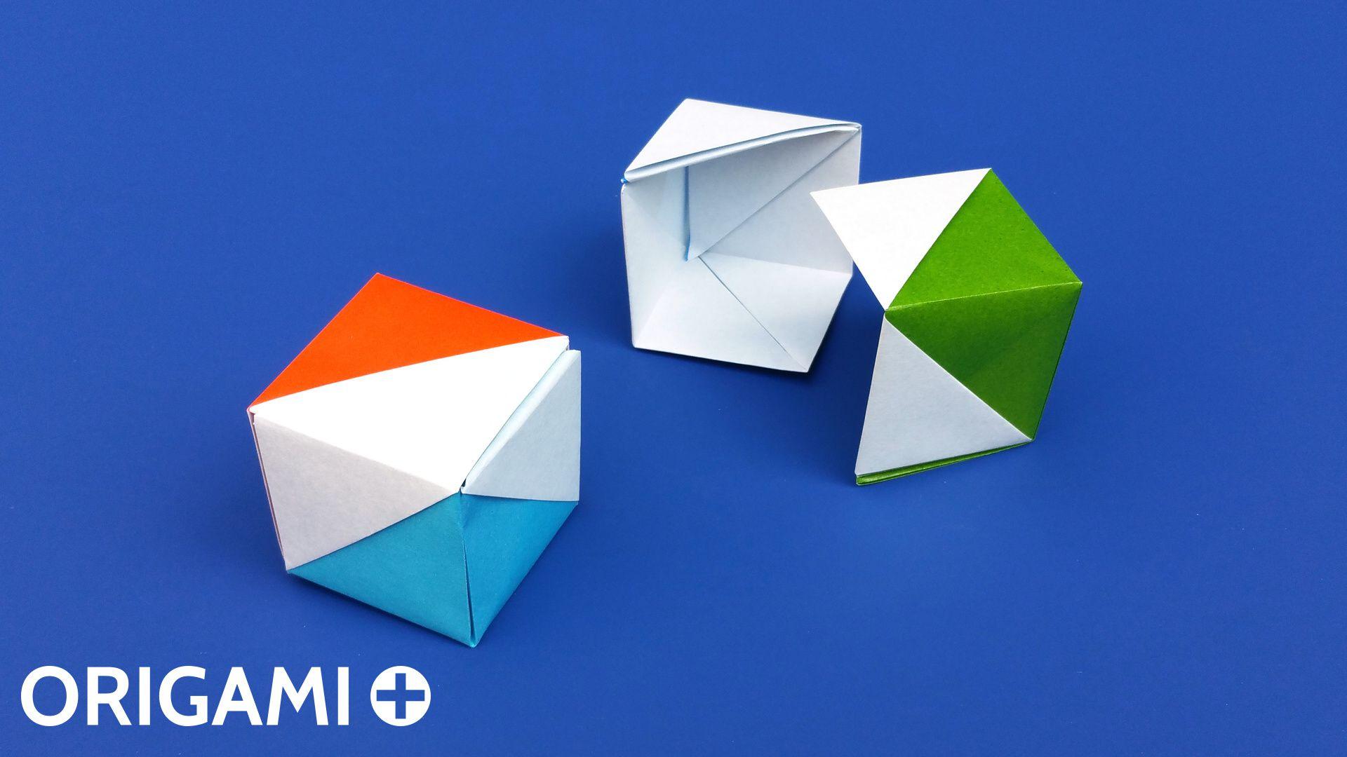 Origami cube gift box flag box jeuxipadfo Image collections