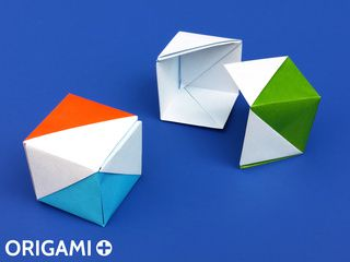 Boite Cadeau Cube / Boite Drapeau en origami