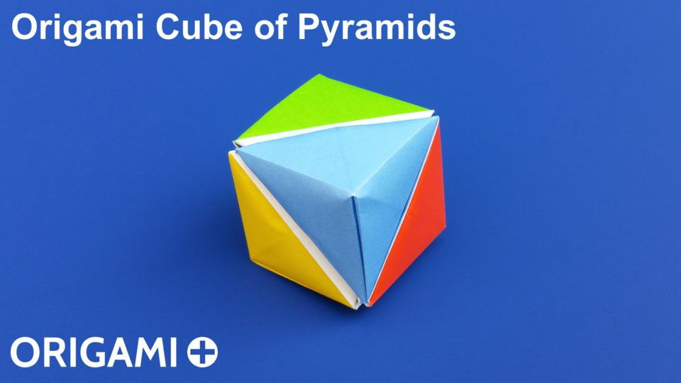 Origami Cube Of Pyramids