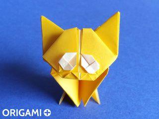 Chaton en origami