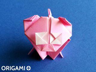 Origami Cute Pig