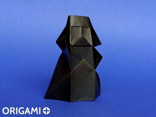 Darth Vader en origami