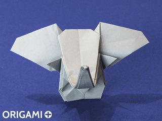 Cabeza de elefante en origami