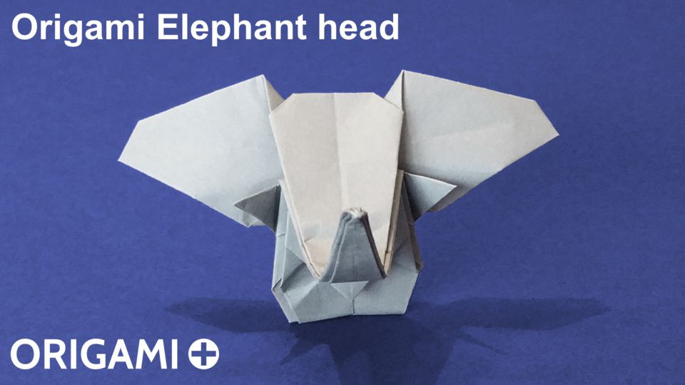 Origami Elephant Head