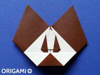 Cabeza de ratón diabólico en origami
