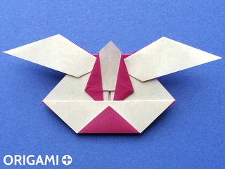 Origami Evil Rabbit Head