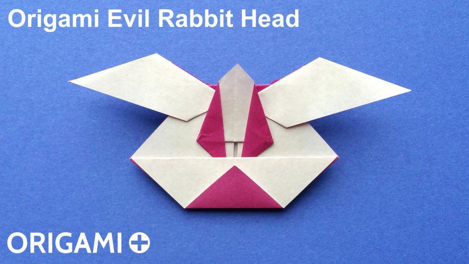 Origami Evil Rabbit Head