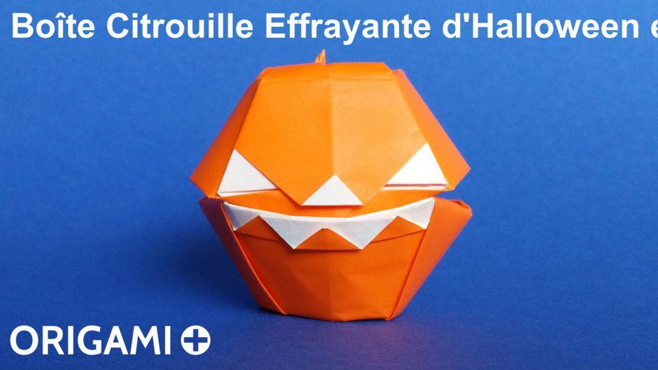 Boîte Citrouille Effrayante d'Halloween