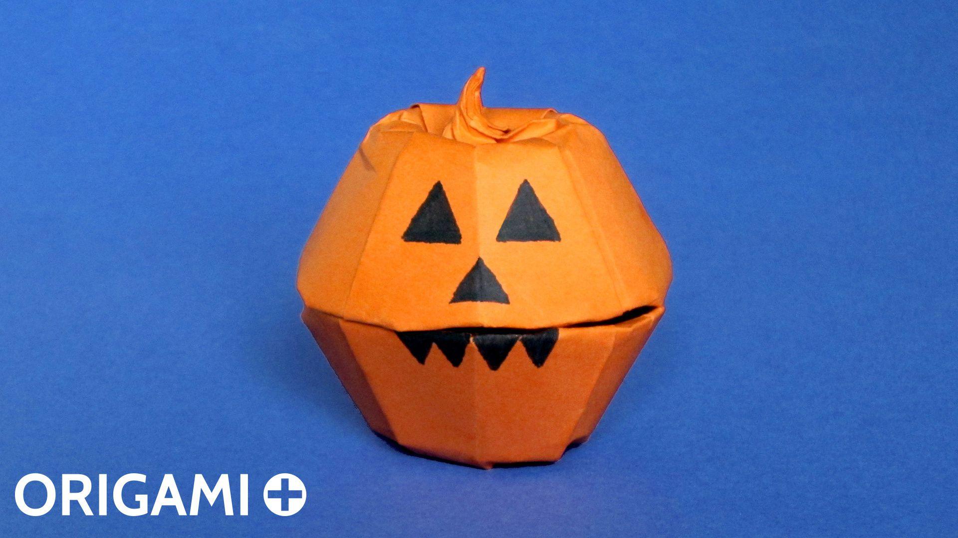 origami halloween pumpkin box