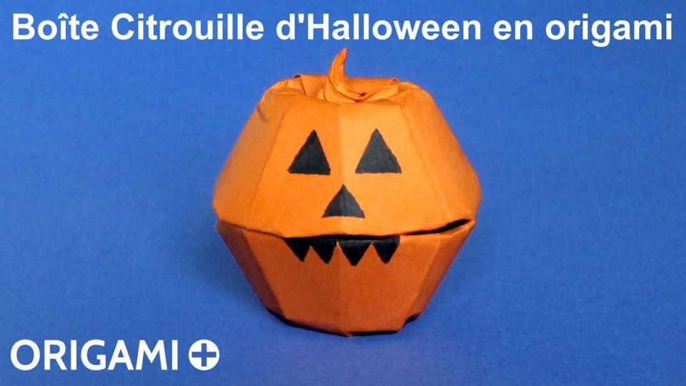 Boîte Citrouille d'Halloween