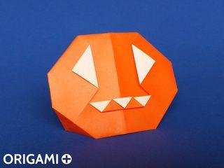 Calabaza de Halloween en origami