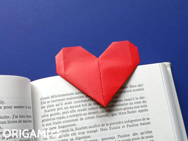 Heart Bookmark - step 2