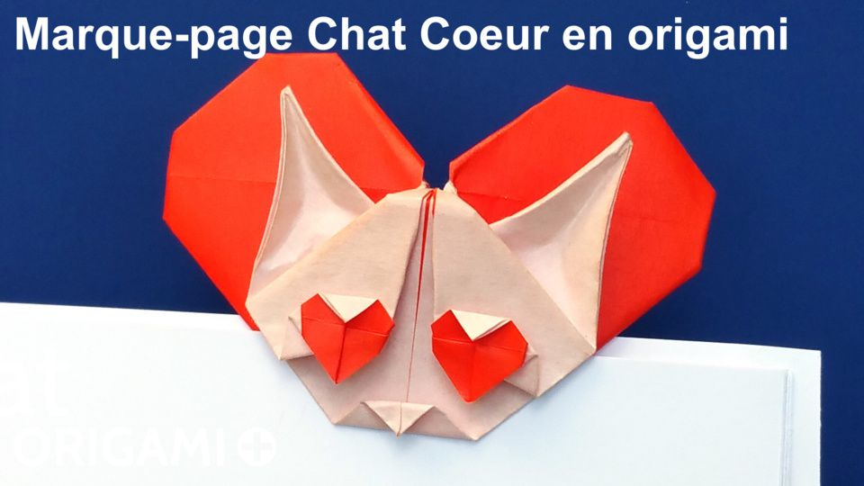 Marque-page Chat Coeur