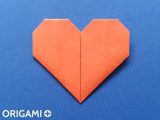 Corazón en origami