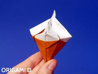 Cornet de Glace en origami