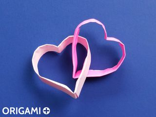 Origami Interlocked Hearts