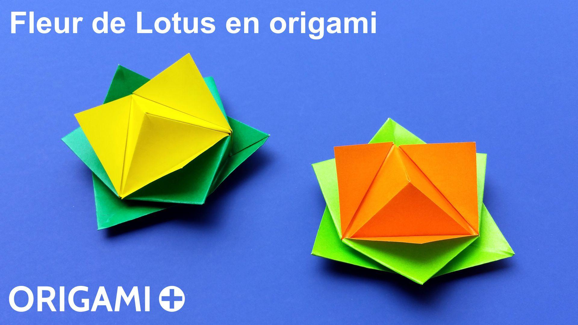 fleur de lotus en origami. Black Bedroom Furniture Sets. Home Design Ideas