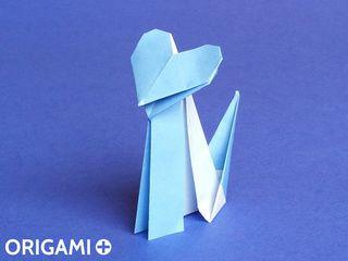 Gato Corazón en origami