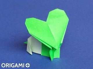 Souris Coeur en origami
