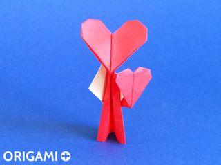 折り紙のハートくん