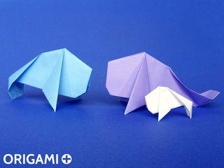 Lamantin en origami