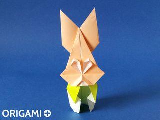 Monsieur Lapin  en origami