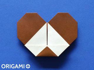 Cabeza de ratón en origami