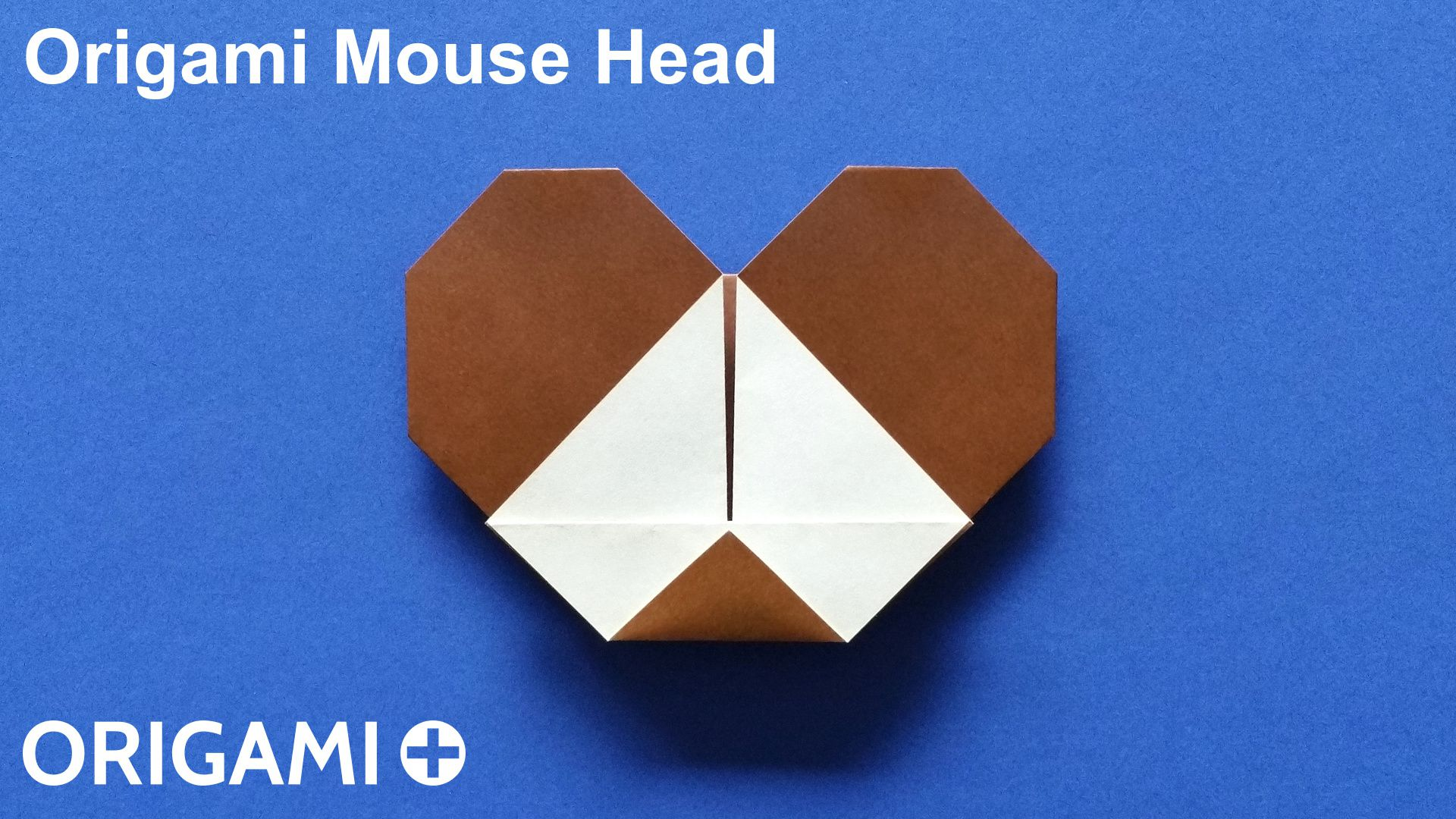 Origami Mouse Head on