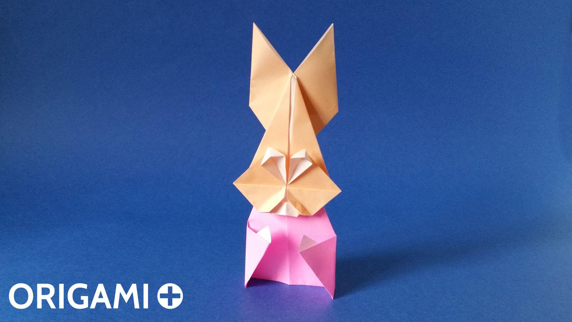 Como fazer origami animal / origami de papel fácil: Coelho ... | 1080x1920